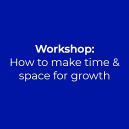 Workshop: How to make time and space to grow your business